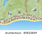 illustration of a generic map... | Shutterstock . vector #89833849