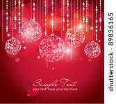 card with christmas balls ... | Shutterstock .eps vector #89836165