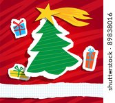 christmas funny background | Shutterstock . vector #89838016