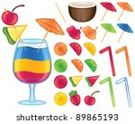 make your own tropical drink | Shutterstock .eps vector #89865193