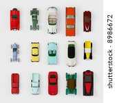 collection of old cars  top view | Shutterstock . vector #8986672