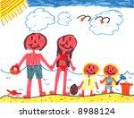 Happy Family at Happy Beach! - stock photo
