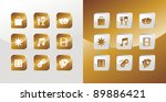 entertainment icons glossy set... | Shutterstock . vector #89886421