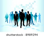 a large group of team players. | Shutterstock .eps vector #8989294