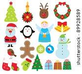 christmas elements set   Shutterstock . vector #89928589
