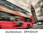 london bus abstract hrd | Shutterstock . vector #89930419