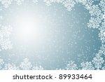 winter snow christmas... | Shutterstock . vector #89933464