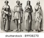 four statues depicting four...   Shutterstock . vector #89938270