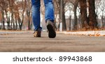 close up view on man's legs in... | Shutterstock . vector #89943868