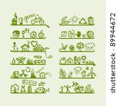 shelves with ecology icons for... | Shutterstock .eps vector #89944672