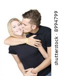 couple kissing - stock photo