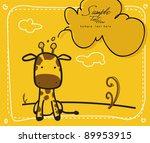 baby giraffe   newborn   baby... | Shutterstock .eps vector #89953915