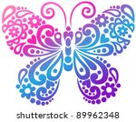 ornate butterfly swirly... | Shutterstock .eps vector #89962348