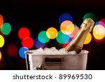 christmas champagne   Shutterstock . vector #89969530