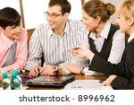 portrait of business people... | Shutterstock . vector #8996962