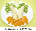 Creative Fruit Dessert With...
