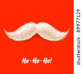 santa's mustache. vector. | Shutterstock .eps vector #89977129