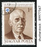 hungary   circa 1975  a stamp... | Shutterstock . vector #89977567