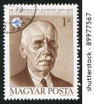 hungary   circa 1975  a stamp... | Shutterstock . vector #89977567