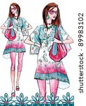 fashion girl | Shutterstock . vector #89983102