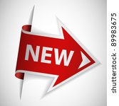 red arrow with text new | Shutterstock .eps vector #89983675
