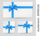 blue gift bow. illustration on... | Shutterstock .eps vector #89985136
