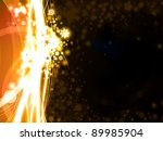 abstract golden Xmas background with stars and snowflakes illustration - stock photo