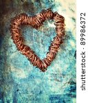 Rusted Wire Heart Wreath On...