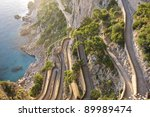 the beautiful capri island  via ... | Shutterstock . vector #89989474