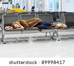 passenger spending a night at... | Shutterstock . vector #89998417