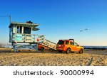Постер, плакат: Lifeguard tower in Venice
