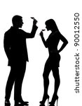 one caucasian couple man and... | Shutterstock . vector #90012550