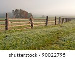View Of A Wooden Fence On A...