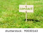 contact us concept with word on ... | Shutterstock . vector #90030163