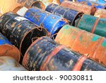Rusty Fuel And Chemical Drums