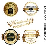 membership privileges | Shutterstock .eps vector #90044905