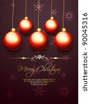 vector merry christmas design... | Shutterstock .eps vector #90045316
