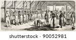 Small photo of Crushing coffee in Suriname, old illustration. Created by Worms after Bray, published on L'Illustration, Journal Universel, Paris, 185