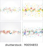 collection seamless festive...   Shutterstock . vector #90054853