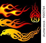 various shape of flames | Shutterstock .eps vector #9005764