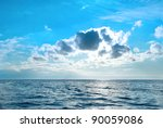 sea with blue water  sky and... | Shutterstock . vector #90059086
