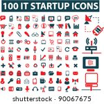100 business it startup icons... | Shutterstock .eps vector #90067675