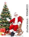 santa claus sitting next... | Shutterstock . vector #90068023
