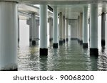 View Of Piles And Water Under...