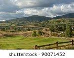 Snow clouds over the mountains. Colorado, USA - stock photo