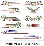 vehicle graphics  stripe  ... | Shutterstock .eps vector #90076123