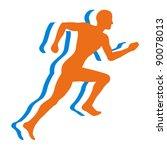 jogging   bitmap illustration | Shutterstock . vector #90078013