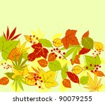 Autumn colorful leaves background for seasonal design. Vector version also available in gallery - stock photo