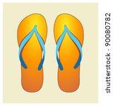 bitmap illustration of orange... | Shutterstock . vector #90080782