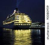 Luxury Cruise Ship At Osanbashi ...